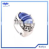Custom Jewelry Ring Blue Stone Jewellry Silver Plating