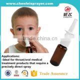 High quality colorful ribbed closure 18 410 nasal spray pump plastic nasal atomizer for comestic bottle
