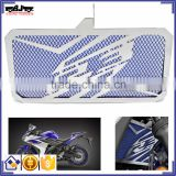 BJ-RG-YA004 Customized Oil Cooler Radiator Guards Cover Grille Motorcycle Stainless Steel Blue Radiator For Yamaha yzf R3 2015 2