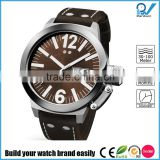 Build your watch brand easily man stainless steel case big watch dial brass