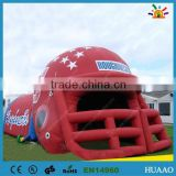 2015 inflatable football helmet tunnel