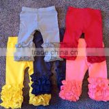 Best selling girls ruffle leggings tight icing baby leggings