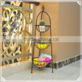 3 tier metal display sundries stand fruit basket for home deco