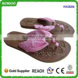 Comfortable Cotton Pink Low Price Ladies Sandals
