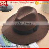 men felt fedora hat with band cheap custom vintage winter hat