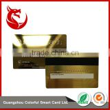 Standard stainless steel gold embossed business cards with magnetic stripe                                                                                                         Supplier's Choice