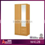 furniture bedroom kids mdf panel door modern designed wardrobe