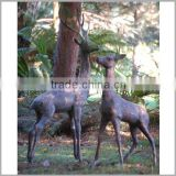 Outdoor Cast Iron Brass Deer Statue Sculpture for Decoration