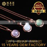 hot sale jewellery set 18K gold plated 925 sterling silver precious natural Crystal grape stone Moonstone Pendant Necklace