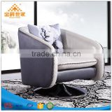 Leather single living room sofa European art and modern furniture leather sofa leisure head layer cowhide swivel chair