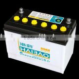 dry charged 90ah low maintenance free battery