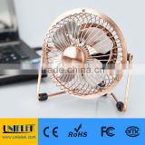 Mini fan usb 4 inch metal fan electroplating copper red color mute high quality                                                                         Quality Choice