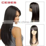 130% density natural looking italian yaki lace front wig best brazilian remy human hair wig for african americans
