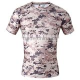 Men fitness dry fit shirt digital printing military cycling running jogging sportswear camouflage t-shirt for men