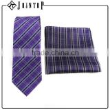Fashion crossover plaid pocket square silk and tie manufacture