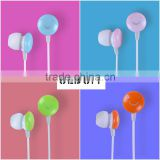 ULDUM 2013 with smile logo Custom color headphone earphone with mic and 1.2m braided cable for mp3 telephone
