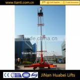 dual ladder anti rotating type telescopic cylinder hydraulic platform lift