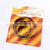 3pcs round daily shape custom cookie stamp cookie cutter                                                                         Quality Choice
