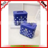 Dots square letters make up box 2 piece set Cosmetic Bags                                                                         Quality Choice