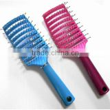 Plastic vent hair brush detangling brush long hair ionic nylon bristle top quality                                                                         Quality Choice