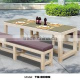 Woven Long-lasting Garden Furniture Good quality Alum PE Rattan Bar Furniture Leisure Patio Table and Chair