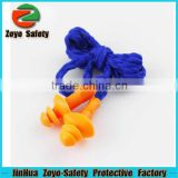 Trade Assurance Over $32000 CE approved Plastic or Cotton String Silicone Earplug Safety Ear Plug