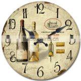 Home Decor of Circular Wall Clock with tempered glass material
