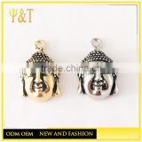 Best seller stainless steel buddha heads loose beads for jewelry bracelets making (DIY-031)
