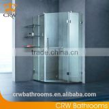 CRW FTM83 3 Sided Shower Enclosure Stainless Steel Corner