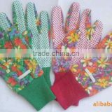 double side dotted cotton knitted glove white