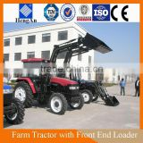 Cheap Tractor with Front End Loader and Back Hoe