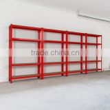 big warehouse storage light goods on longspan shelf