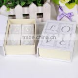 European and American style wedding favor candles romantic love letter book candle