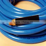 High Quality Blue PVC Air Hose with Fittings / Braided Reinforced PVC Air Hose with Heavy Duty 30 Bar.