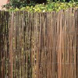 Natural Black Fern Fence For Garden