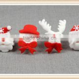 4Pattern Santa Claus Slap Circle Bracelet Christmas Jewelry Xmas Gif Party Decor