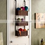 Holly And Martin Hazel Over-the-Door 3-Tier Basket Storage set