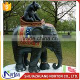 Life Size Fiberglass Elephant Statues with Bear on Back NTRS-097LI