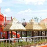 PVC handmade thatch roof,house roof decoration, artificial grass thatch tile