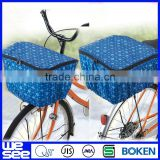 Plaid folding bicycle basket cover bike rain cover
