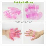2016 Summer High Quality Food Grade Silicone Pet Gloves Pet Washing Pet Grooming Bath Massage Gloves
