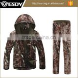 Tactical Softshell Fleece Camo Mlitary Uniform Suit Waterproof Breathable Combat Training Army Jacket and Pant