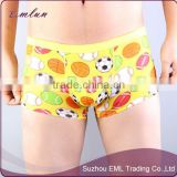 customise good quality printed bamboo fiber sexy seamless underwear boxer