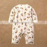 Animal Pattern Baby Infant Rompers Natural Colored Cotton Bodysuit Onesie One-piece Set