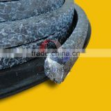 Expanded graphite braided packing impregnated with PTFE