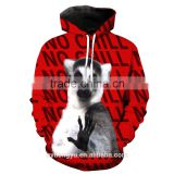 Chrismtas gretting dog unisex 3D red sweatshirts/blue na plus size 3d hoodies/ fashioable 3d Christmas hoodies jacket