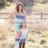 mommy and daughter matching clothing colorful stylish long tie dye maxi dress