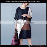 Latest Womens Short Sleeve Loose Casual Plus Size Dresses Korean Ladies Cotton Linen Dress