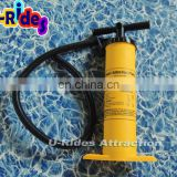 "Powerful 19"" Hand pump in yellow color"