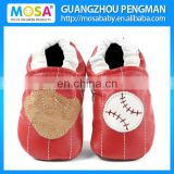 Toddler Genuine Leather Soft Sole Baseball Shoes,Girl Baseball Slippers